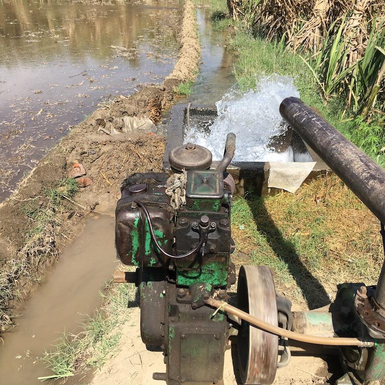 Diesel water pumping set in Yahiyapur, Western Uttar Pradesh